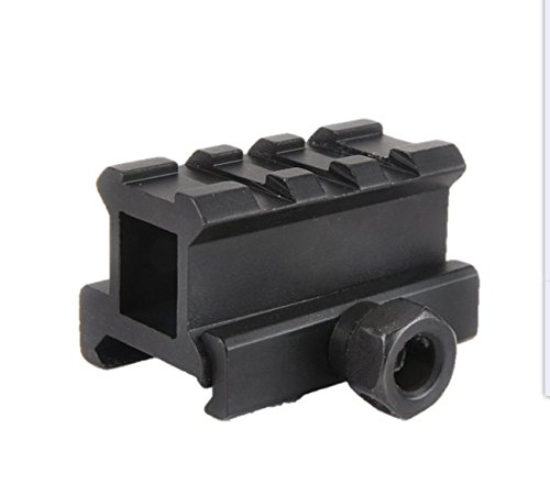 Tactical Picatinny Weaver Short See-Thru Mount with 1 Inch Height, 3 Slots Mini Raiser Slots by Golden Eye Tactical (See More Red Dot compare prices)