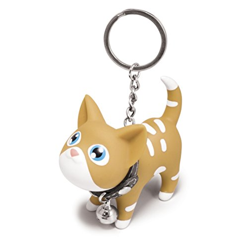 B.Duck Kat Keyring, Brown and White - 1