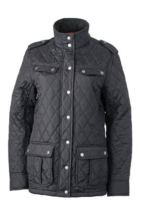 JAMES & NICHOLSON Fashionable quilted jacket for business and leisure (S, black)