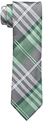 Geoffrey Beene Men's Petros Plaid II Tie, Green, One Size