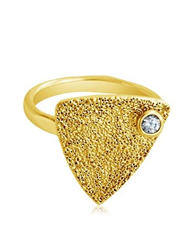 Belcho Textured Triangle with CZ Ring