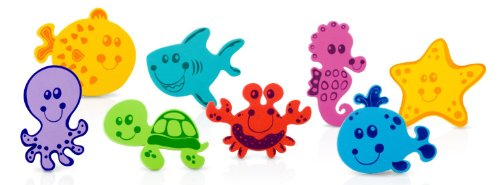 Nuby 32 Piece Bath Tub Foam, Animal Characters (2 Pack)