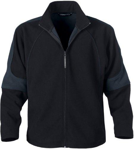 Stormtech ST024 Polyester Men's Eclipse Bonded Fleece Shell Jacket, Large, Black/Granite