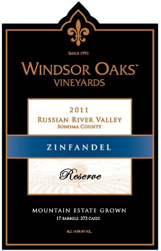2011 Windsor Oaks Vineyards Russian River Valley Zinfandel 750 Ml
