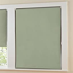 Brylanehome Blackout Roller Shade With Beaded Chain (Sage,36\