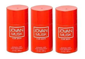 Jovan Men's Musk Deodorant - 3 Sticks (3 oz)