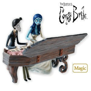 #!Cheap QXI2096 A Spirited Duet Tim Burton's Corpse Bride 2010 Hallmark Magic Ornament