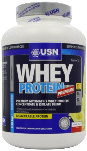 USN 100% Whey Protein 2280 g Banana Muscle Development and Recovery Shake Powder