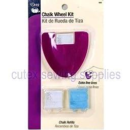 Dritz Tailors Chalk Wheel Kit 662, Sewing Notion Tool