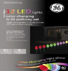 Set Of 12 Color Changing Led G35 Ge Multifunction Christmas Pathway Markers