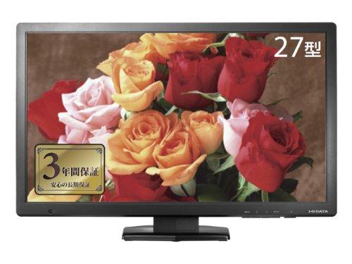 I-O DATA 27型ワイド液晶 PLSパネル搭載 LCD-MF275XPBR