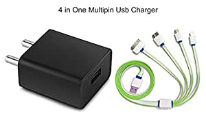 Maxwest Virtue Z5 Compatible Multi -Pin Charger Adapter With Auto- Detect Technology - ( 2 Ampere Genuine Output , 1 M Usb )