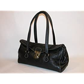 Prada Handbag Black Leather BR2375