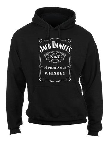 Ely Walker & etichetta Jack Daniels-Maglione da donna con cappuccio Nero  nero