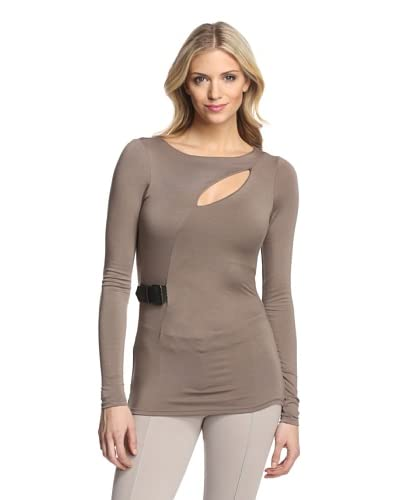 Gender Bias Women's Top with Belted Side