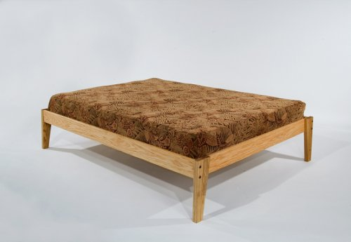 full size solid oak wooden platform bed frame beautiful hand rubbed danish oil finish made in. Black Bedroom Furniture Sets. Home Design Ideas