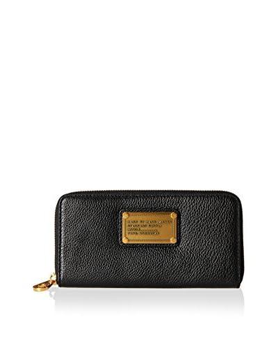 Marc by Marc Jacobs Women's Classic Q Vertical Zippy Wallet, Black
