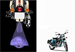 AutoStark Bike 3D LED Shadow Laser Light-Royal Enfield Classic 500