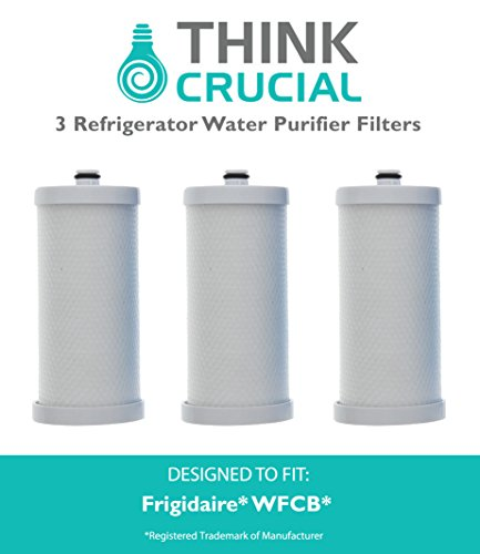3 Frigidaire WFCB Refrigerator Water Purifier Filter Fits RC101, RC200, RF200, RC-101, RC-200, RF-200, 218710901, 218710902, 218732306 , 218904501, 218904602, 218907800 , 5303917752, 5303917937 5303918017, SWFCB, Sears Kenmore 9906, 469906, 46-9906, 9906P & 4609906000. Compare to part numbers: 5303917752, RF-200, RC200, RC-200, RC-101 & 46-9906, Designed & Engineered by Think Crucial