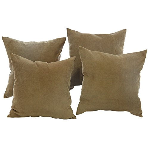 Brown Corduroy Throw Pillow : Deconovo Corduroy Flocking Throw Cushion Case Pillow Cover With Invisible Zipper for Car, 18x18 ...