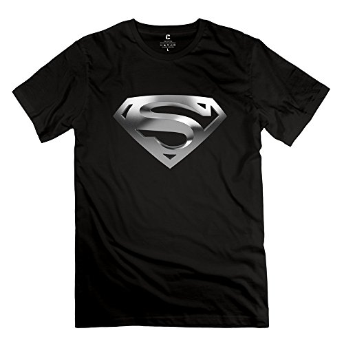 Jiuzhou Men's T-shirt Superman Logo Black
