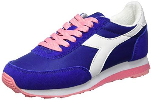 Diadora Gioventu Scarpe da corsa, Uomo, Multicolore (C6078 Blu Oltremare/Rosa Salmone), 38.5