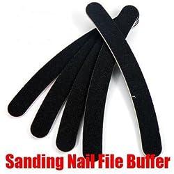5pcs Sanding Nail Art File Buffer Crescent Buffing Block