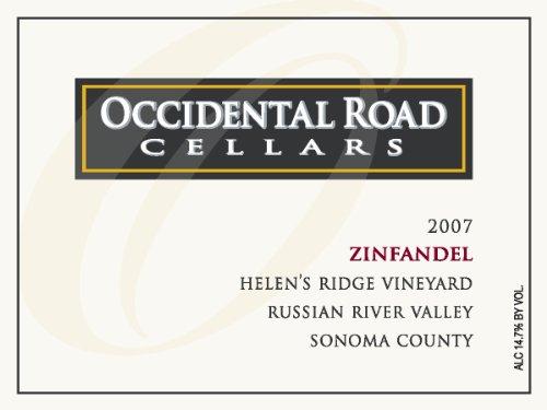 2007 Occidental Road Cellars Zinfandel Russian River Valley Helen'S Ridge Vineyard 750 Ml