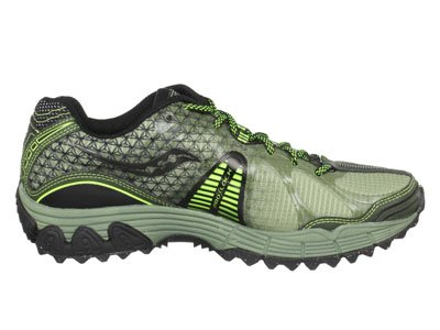 Saucony Men's Progrid Xodus 2.0 Trail Running Shoe,Green/Black/Citron,10 M US