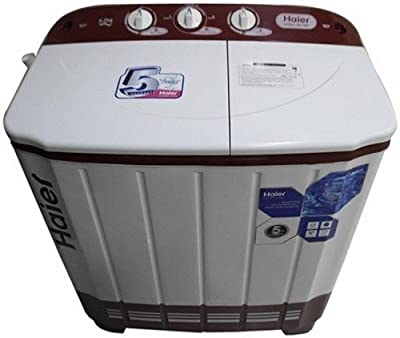 Haier XPB 65-113S Semi-automatic Top-loading Washing Machine (6.5 Kg, Ruby Red)