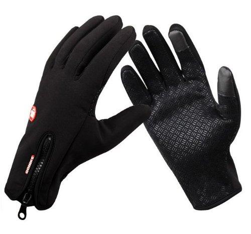HGL ウェットスーツ素材 防寒グローブ 滑り止め加工 iPhone・スマホ等タッチパネル対応 自転車・ウォーキング (Lサイズ)