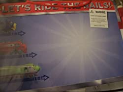 Chuggington Dry Erase Message Board with Marker Lets Ride the Rails