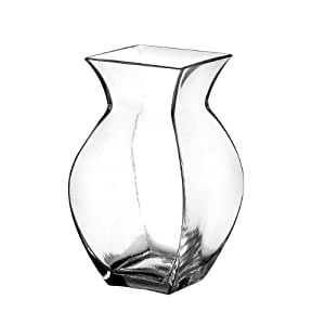 """Syndicate Sales 6 1/2"""" Reception Vase, Clear"""