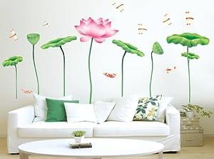 Design DIY Vinyl Lotus Wall Sticker Art Flower Removable Wall Decals from New Design