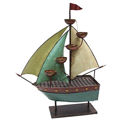 Iron Sailor Ship with 5 Leaf Cup Tier Floor Fountain MAZ258