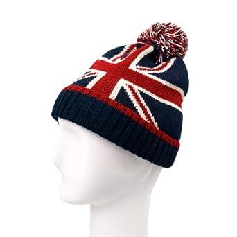 Knitting Pattern For Union Jack Hat : Premium Unisex Warm Knit Union Jack UK British Flag Beanie Hat, v1 at Amazon ...