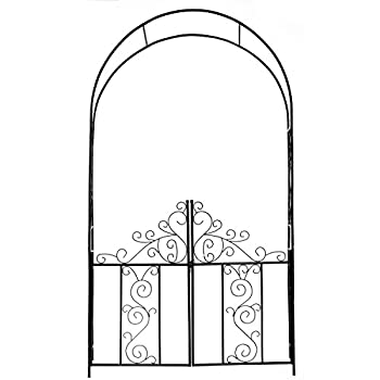 1.Go Steel Garden Arch with Gate, 75