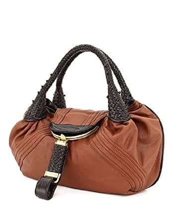 Designer Inspired Oversized Spy Handbag - Brown