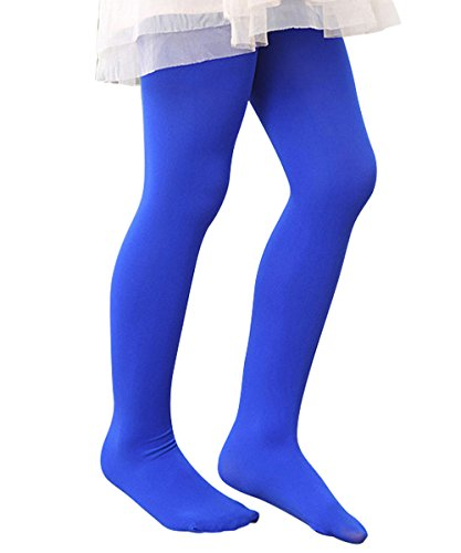 Zando Girls Full Length Solid Color Stretchy Popular Cotton Warm Pants Leggings Royal Blue X-Large (Footed Thermal Underwear compare prices)