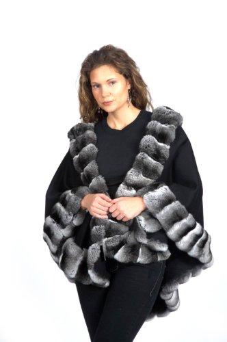 black-loro-piana-17-ounce-100-cashmere-cape-w-natural-chinchilla-border