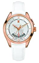 TX Unisex T3C505 400 Series Perpetual Weekly Calendar White and Gold Watch