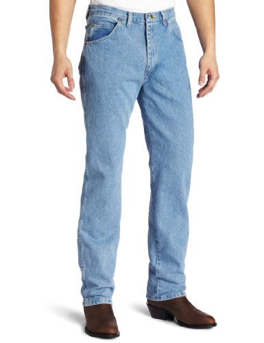Wrangler Men's Rugged Wear Classic Fit Jean ,Rough Wash Indigo,30x30 Picture