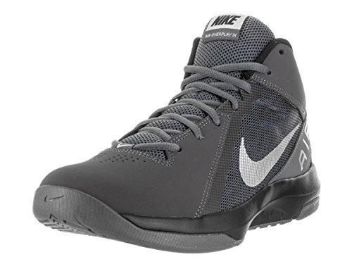 Nike Men's The Air Overplay IX NBK Dark Grey/Metallic Silver/Blk Basketball Shoe 9 Women US