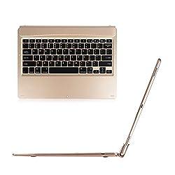 Fintie iPad Pro 12.9 Keyboard Cover - Blade Z1 Ultra Slim [Multi-Angle] Wireless Bluetooth Keyboard (with Auto Wake / Sleep) for Apple iPad Pro 12.9-Inch [2015 Release], Gold