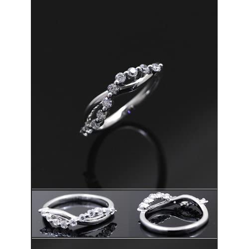 スイートテンリング ダイヤモンド CZ プラチナカラー レディース 指輪 ring プレゼント ギフト TypeB 10号