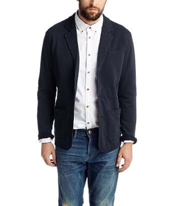 ESPRIT Herren Sweatshirt Blazer - Slim Fit 034EE2J011, Einfarbig, Gr. XXX-Large, Blau (DARK NIGHT BLUE)