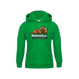 Marshall Youth Kelly Green Fleece Hood