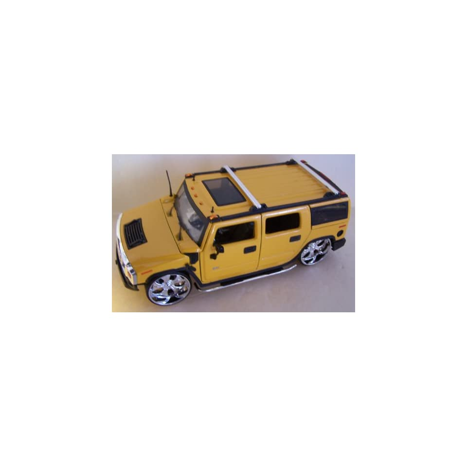 Jada Toys 1/24 Scale Diecast Big Time Kustoms Hummer H2 in Color Yellow
