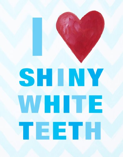 Cici Art Factory Wall Hanging, I Heart Shiny White Teeth Blue - 1