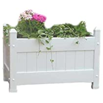Large White Duratrel  Planter Box Fully Assembled